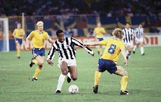 Hernan Medford möter Sverige VM 1990