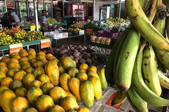 Underbar och exotisk lokalproducerad mat