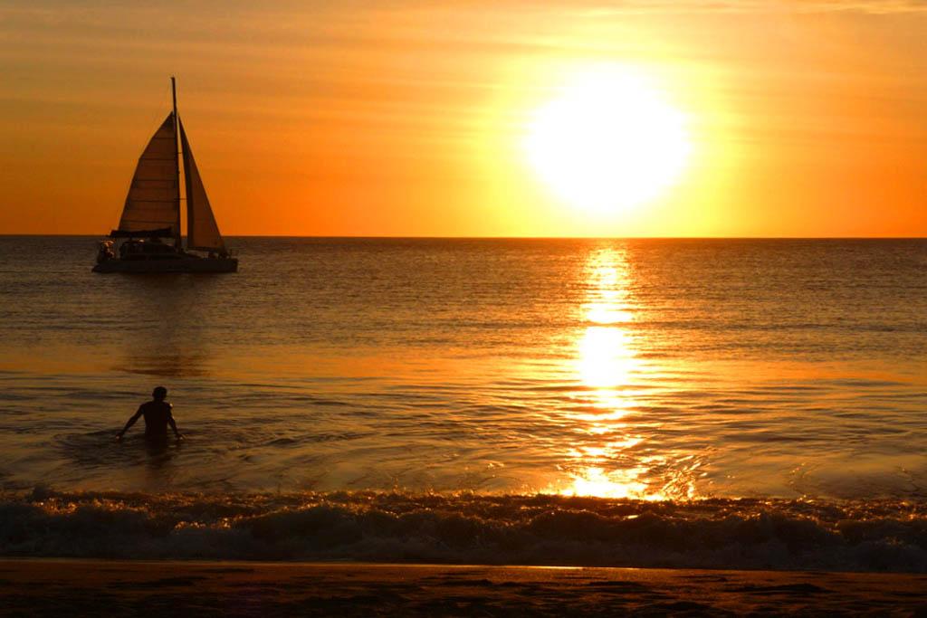 Solnedgång costa rica