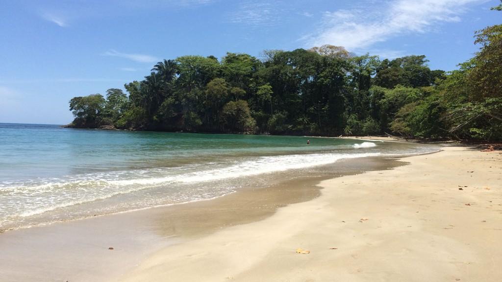 En strand i Costa Rica