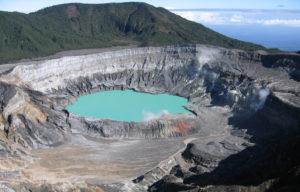 Vulkanen Poas Costa Rica