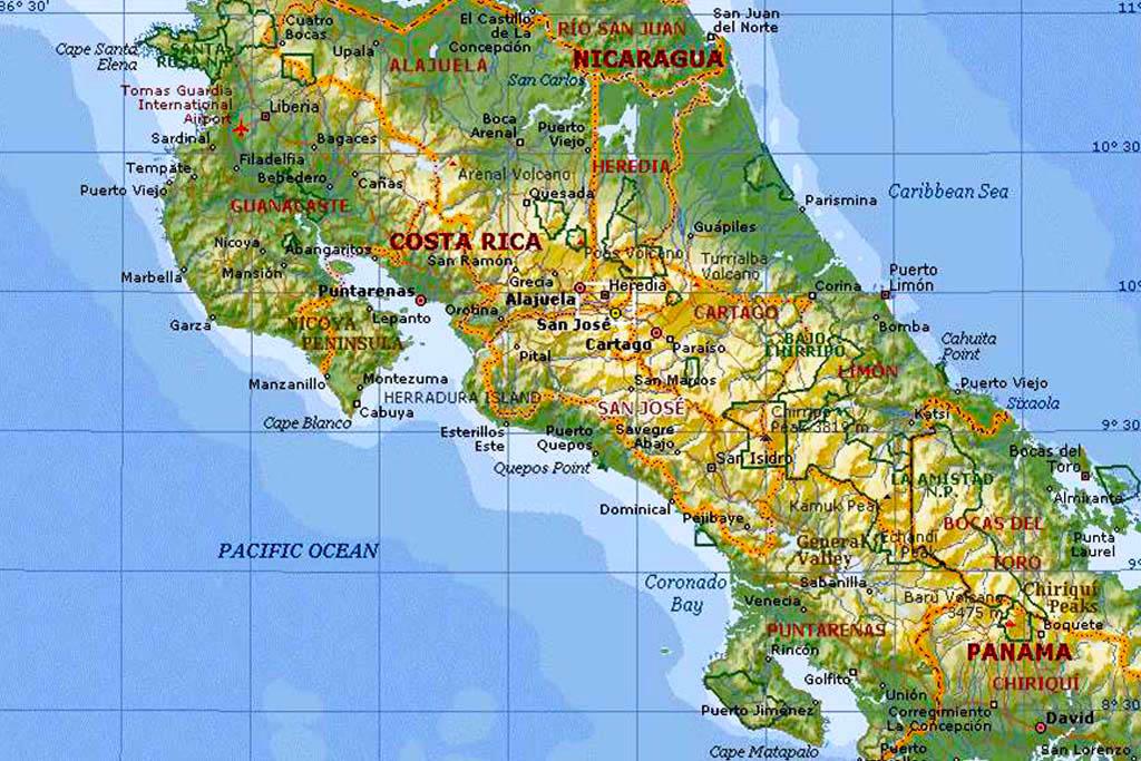 Karta Costa Rica