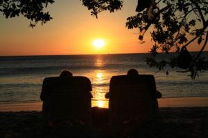 Solnedgång Flmaingo Beach Costa Rica