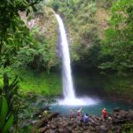 La Fortunas vattenfall vid vulkanen Arenal